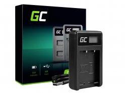 Ladegerät BC-W126 Green Cell ® pentru Fujifilm NP-W126, FinePix HS30EXR HS33EXR HS50EXR X-A1 X-A3 X-E1 X-E2 X-M1 X-Pro1 X-T1 X-T