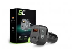 Adaptor de încărcare a încărcătorului auto Green Cell Cell® USB-C Power Delivery + USB Quick Charge 3.0