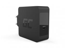 Încărcător Green Cell USB-C 60W PD cu cablu USB-C pentru Apple MacBook Pro 13, Asus ZenBook, HP Spectre, Lenovo ThinkPad și alte