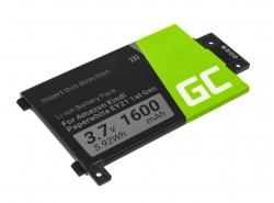 Baterie Green Cell 58-000008 pentru Amazon Kindle Paperwhite I 1st 3G EY21 B024 B01B B01C B01D B01F B020, E-book 1600mAh