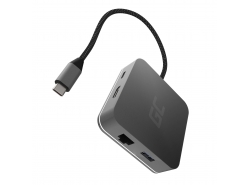 Stație de andocare, adaptor, adaptor HUB USB-C HDMI Green Cell - 6 porturi pentru MacBook Pro, Dell XPS, Lenovo X1 Carbon und an