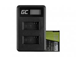 Green Cell ® Akku AHDBT-201 und Ladegerät AHBBP-301 für GoPro Hero HD 3 3+ Black Silver White 1000mAh