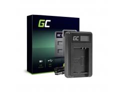 Kamera Akku-Ladegerät CB-2LCE Green Cell für Panasonic Canon NB-10L PowerShot G15, G16, G1X, G3X, SX40 HS, SX40HS, SX50 HS