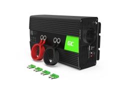 Green Cell ® 24V la 230V 1000W / 2000W undă sinusoidală pură