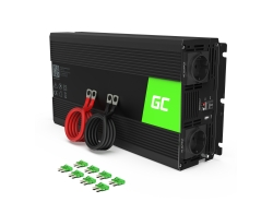 Green Cell ® Convertor de tensiune sinusă pură 1000W / 2000W Inverter Inverter 24V 230V