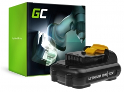 Green Cell ® (2,5 Ah 10,8 V) DCB120 DCB121 DCB123 pentru DeWalt DCD710 DCF815 DCF813S2 DCD701F2 DCS310B