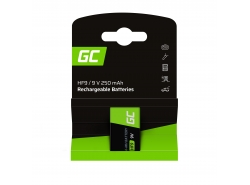 Green Cell Batterie Akku 1x 9V HF9 Ni-MH 250mAh