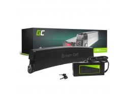 Green Cell ® pentru biciclete electrice 36V 7.8Ah Baterie tip Li-Ion pentru bicicletă electrică cu încărcător