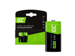 Green Cell Batterie 4x C R14 HR14 Ni-MH 1,2 V 4000 mAh