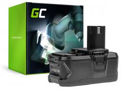 Green Cell ® (5Ah 18V) ONE + RB18L50 RB18L25 pentru RYOBI R18AG0 R18JS0 R18PDBL RCD18022L RID1801M RMT1801M