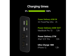 Power Bank Green Cell GC PowerPlay Ultra 26800mAh 128W 4-port with the ability to charge ultrabook, tablet and two smartphones
