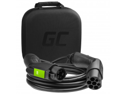 Cable Green Cell GC Type 2 for charging EV Tesla Leaf Ioniq Kona E-tron Zoe 22kW 16.4 ft with case