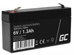 Green Cell ® Gel Batterie AGM VRLA 6V 1.3Ah