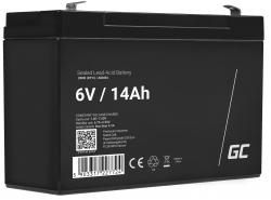 Green Cell® AGM 6V 14Ah VRLA acumulator plum acid baterie fara mentenanta jucării sisteme de alarma
