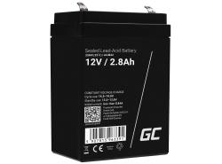 Green Cell® AGM 12V 2.8Ah VRLA acumulator plum acid baterie fara mentenanta jucării sisteme de alarma