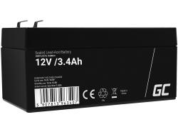 Green Cell® AGM 12V 3.4Ah VRLA acumulator plum acid baterie fara mentenanta jucării sisteme de alarma