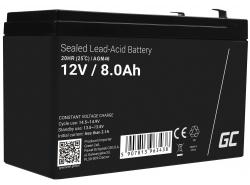 Green Cell® AGM 12V 8Ah VRLA acumulator plum acid baterie fara mentenanta jucării sisteme de alarma