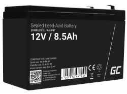 Green Cell® AGM 12V 8.5Ah VRLA acumulator plum acid baterie fara mentenanta jucării sisteme de alarma
