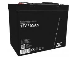 Green Cell® AGM 12V 55Ah VRLA acumulator plum acid baterie fara mentenanta fotovoltaice autorulote camion