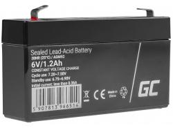 Green Cell® AGM 6V 1.2Ah VRLA acumulator plum acid baterie fara mentenanta jucării sisteme de alarma