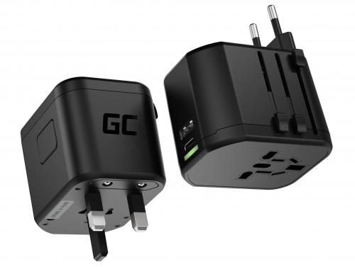 Green Cell GC TripCharge PRO pentru priză cu porturi USB-A UC și USB-C PD 18W
