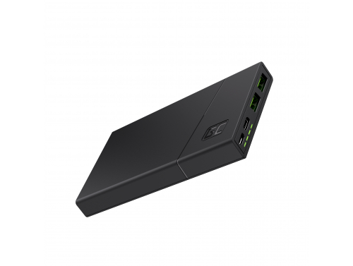Powerbank Green Cell GC PowerPlay10 10000mAh cu Schnellladung 2x USB Ultra Charge și USB-C Power Delivery 18W