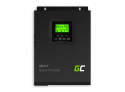 Invertor solar Convertor Off Grid cu încărcător solar MPPT Green Cell 12VDC 230VAC 1000VA / 1000W undă sinusoidală pură