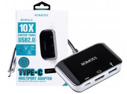 Adapter HUB Romoss mit USB-C für HDMI 4K, USB-A 3.0, USB-C